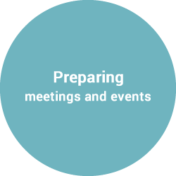 Preparing appointments, meetings and events