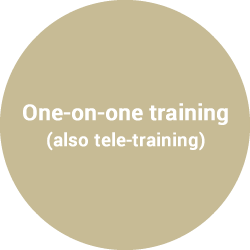 One-on-one training (also tele-training)